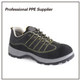 PU Injection Genuine Leather Cheap Sport Safety Shoes