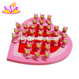 New Arrival Portable Pink Wooden Chess Board Games for Kids W11A091