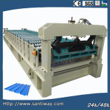 Ce Certificated Roof Tile Cold Roll Forming Machine