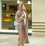 Fashion Design Women's Full Length Reusable Raincoat Protection Suit