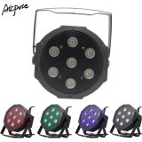 7PCS RGBW 4in1 10W Plastic Mini Flat PAR LED