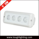 "DC 12V IP68 Waterproof White Flush Mount 5"" 12W LED Work Light for Truck Boat Marine"