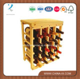 Wooden and Metal Wine Rack for Storage
