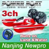Remote Control 3 Channel Super Racer Hovercraft with Dual Control (HV5541(A))