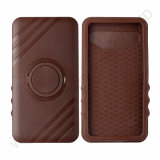 Brown Plastic+Silicone Universial Mobile Phone Case