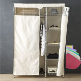 Fabric Modern Movable Non-Woven Metal Clothes Wardrobe for Sale (GR12045180A5C)