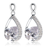 Gold Plated Zircon Gemstone Latest Model Fashion Earrings Jewelry for Bride