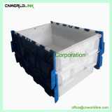 Virgin PP 50L Stackable Packaging Plastic Moving Tote for Storage