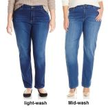 Women′s Plus-Size Easy Fit Straight-Leg Jeans