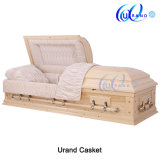 Pinecone Wood Adult Solid Wood Funeral Casket and Coffin Pine