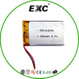 3.7V Lithium Battery OEM 303040 3.7V 320mAh Lipo Battery