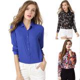 OEM Manufacturer Women High Quality Button-Front Chiffon Shirt