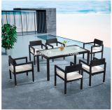 Low Price Waterproof Leisure Modern Chinese Garden Furniture Dining Table Set
