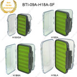 Wholesale Multi Sizes Double-Sided Clear Lids 100% Waterproof Fly Fishing Silicone Boxes 09A-H18-Sf
