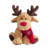 Fashionable Promotional Christmas Reindeer Plush Soft Baby Toy