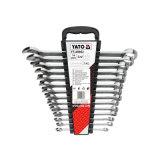 14PCS Hand Tool Set Ratchet Combination Metric Spanner Wrench Set