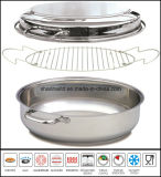 Fish Plate Chicken Roast Pan Stainless Steel Roaster Pan