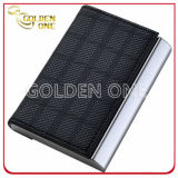 Luxury Tartan Pattern Design Leather Business Card Case