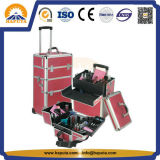 Large Professional Aluminum Cosmetic Trolley Makeup Case (HB-3306)