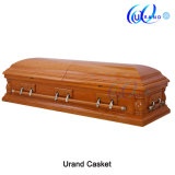 Oak Veneer High Gloss Velvet Hot Sale Casket and Coffin