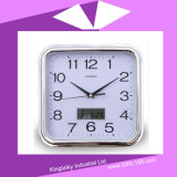 Square Plastic Clock with Electronic Calendar PC-004