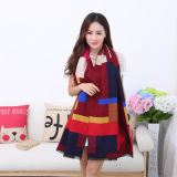 Lady Fashion Acrylic Woven Fringed Jacquard Shawl (YKY4435)
