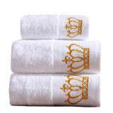 Luxury Customized Face Terry Towel White 100% Cotton Embroidered Washcloth/ Hotel Bath Towel