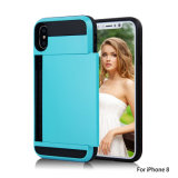 Protective Phone Cover Cases with Credit Card Slot Case for iPhone 8
