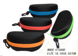 2018 EVA Hard Sunglasses Microfiber Glasses Case with Color Zipper and Plastic Clip