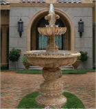 Marble Stone Outdoor 3 Tier Stone Home Used Simple Water Fountain in Wholesale