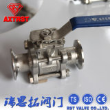 Ss Full Port Floating 3PC Clamp Ball Valve with Mounting Pad
