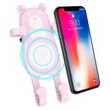 Wireless Car Fast Charger iPhone Xs Max Suction Cup Qi Car Phone Holder