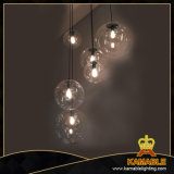 Living Room Clear Glass Shade Pendant Lamps (KAMD10540-1-300)