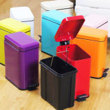 Square Stainless Steel Trash Can
