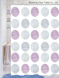 Multi-Colored Circles Fabric Shower Curtain