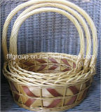 Handmade Hot-Selling Customized Willow Gift Fruit Basket with Long Handle