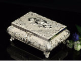 Isabella Casket Style Silver Plated Jewelry Box for Trinkets Packing