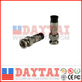 CATV BNC Compression Male Connector for Rg58/Rg59/RG6