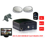 3G GPS WiFi HDD Storage Vehicle Mobile Car DVR with 4CH AV and G-Sensor
