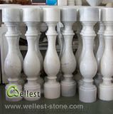 M500 White Marble Natural Stone Balustrade/Baluster with Railing and Handrail