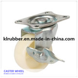 4 Inch Heavy Duty Plate Swivel Caster with Dual Brake