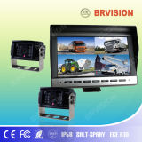 Rear View System for Surveillance with Quad Monitor