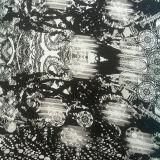 Silk Cdc Print in Black/Grey Tone