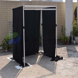 Portable Telescopic Upright and Crossbar and Base Plates for Wedding Backdrops Stands