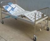 Factory Wholesale Stainless Steel Frame Two Function Manual Hospital Medical Bed