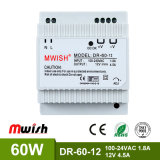 60W DIN Rail Switching Power Supply PSU with Ce RoHS 2 Year Warranty 12VDC