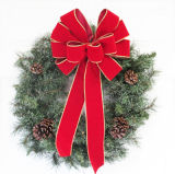 "12"" Pre-Tied Velvet Decorative Multi Loop Bow for Christmas Tree"