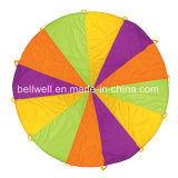 Custom Outdoor Polyester Rainbow Parachute with Carry Bag