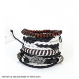 Fashion Vintage Charm Leather Bracelet Men Jewelry