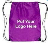 China Custom Cheap Promotional Waterproof 210d Nylon Drawstring Bag